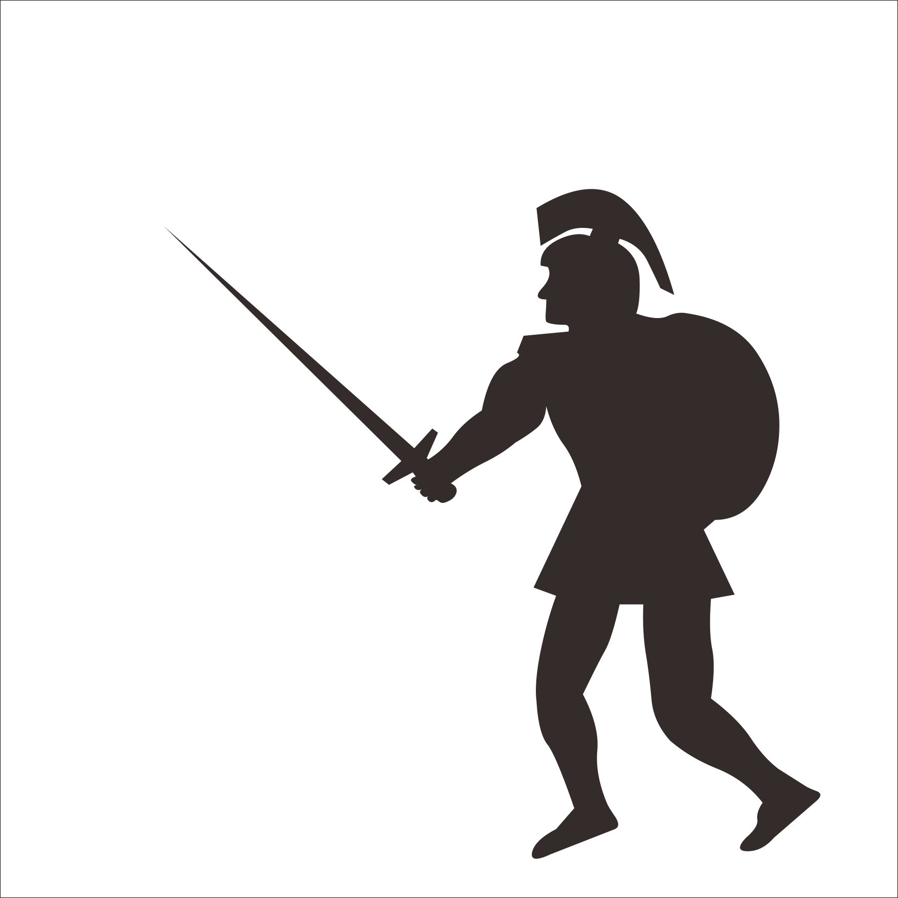 svg royalty free stock Soldier gladius sword roman. Army black and white clipart