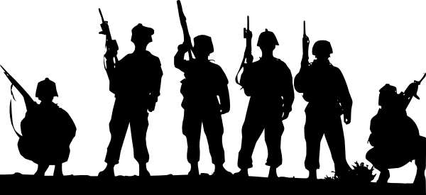 picture black and white library . Army clipart.