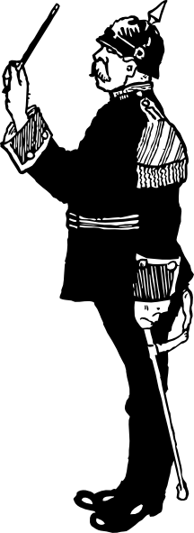 transparent stock Army clipart images. German military band conductor.