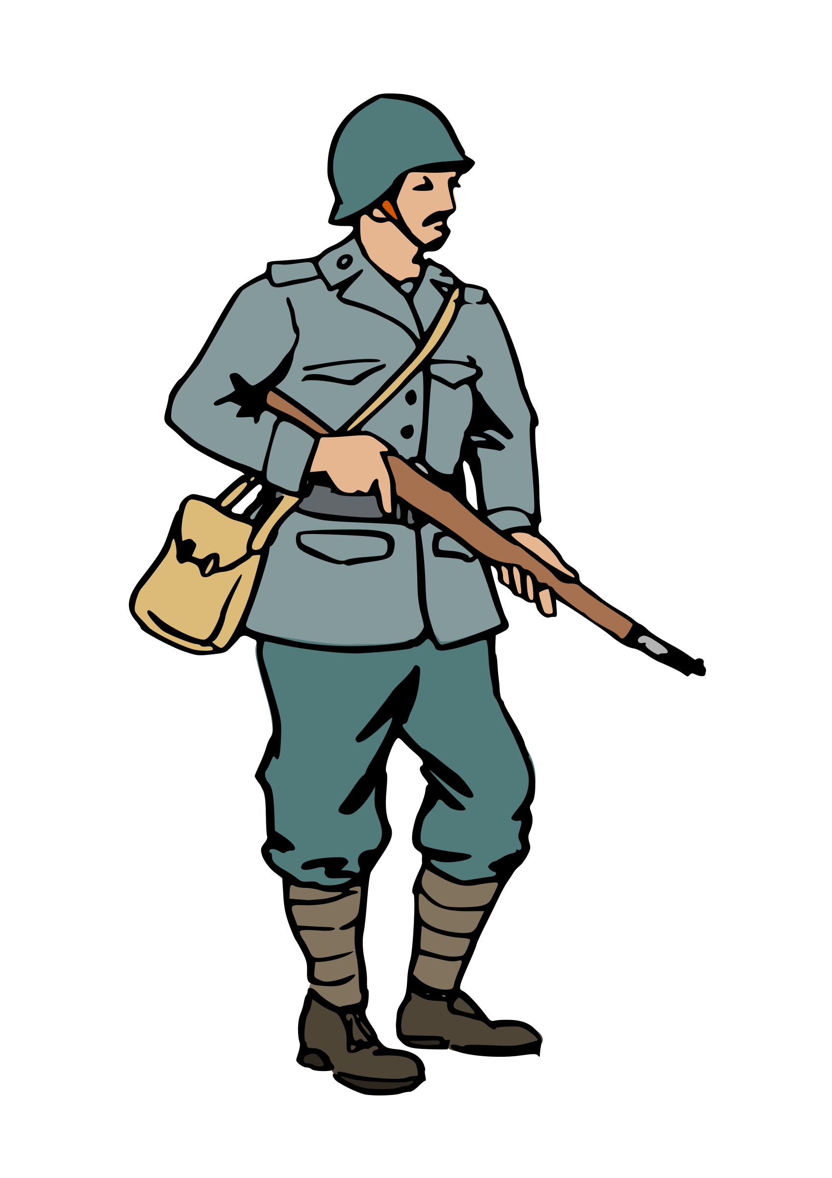 graphic transparent download Ww soldier silhouette at. Wars clipart medieval army