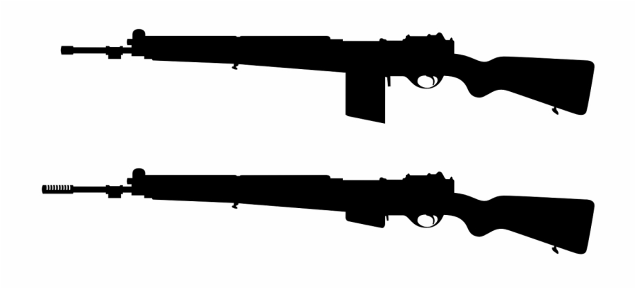 clipart freeuse download Guns silhouette fire arms. Army gun clipart
