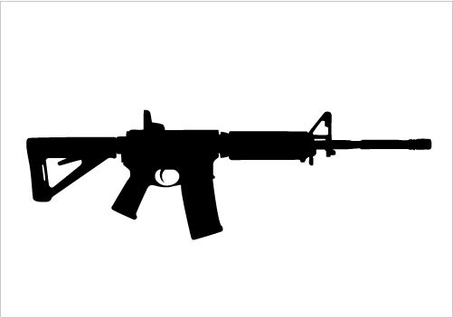 png freeuse download Army gun clipart. Pin on silhouettegraphics