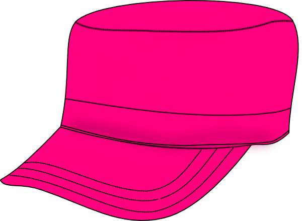 banner black and white stock Pink clip art at. Army hat clipart