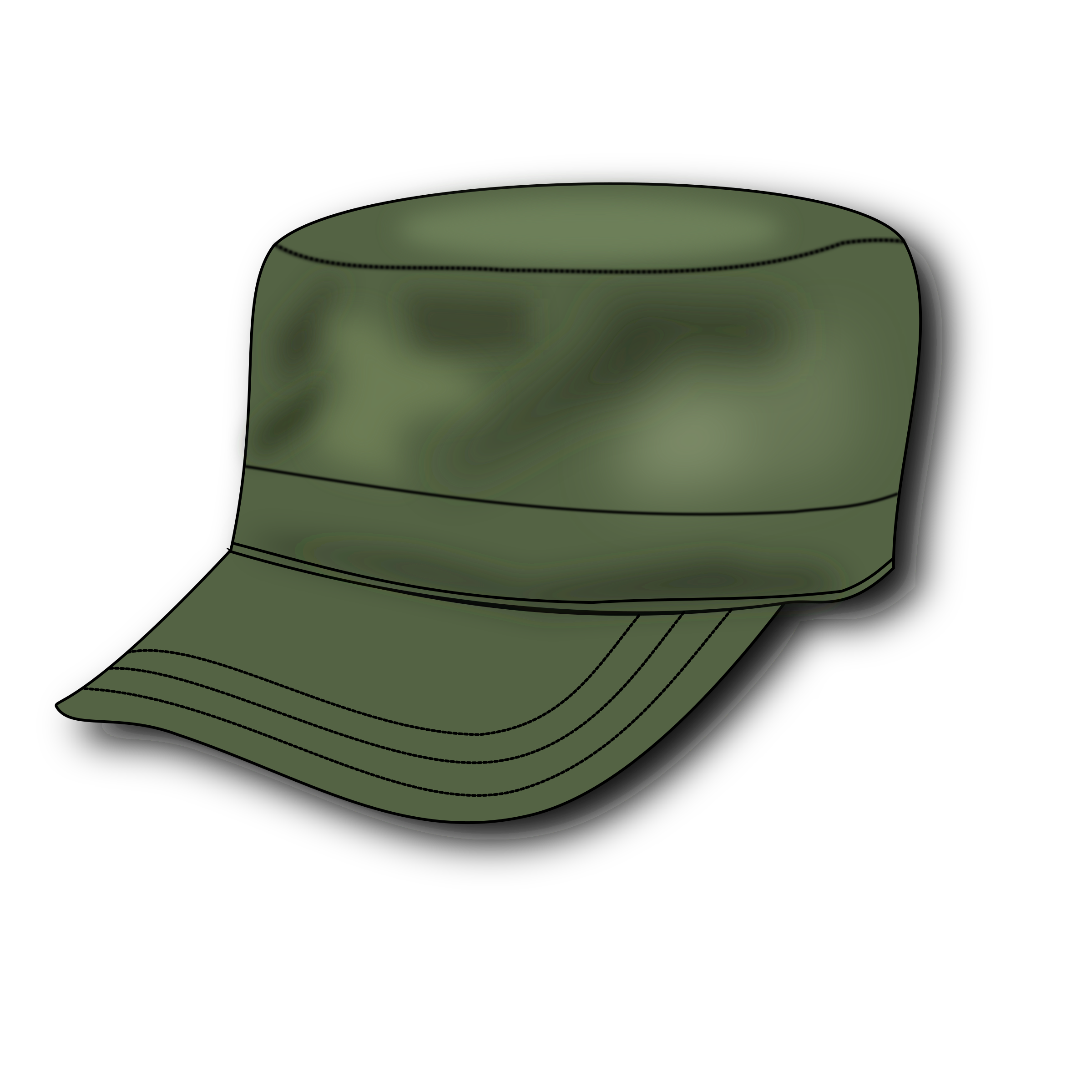 svg black and white download Big image png. Army hat clipart.
