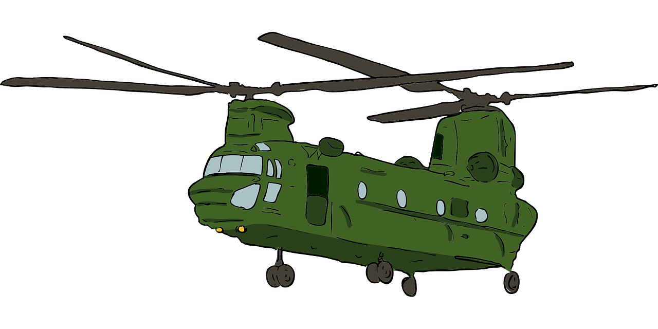 png black and white library Chinook Helicopter Clipart at GetDrawings