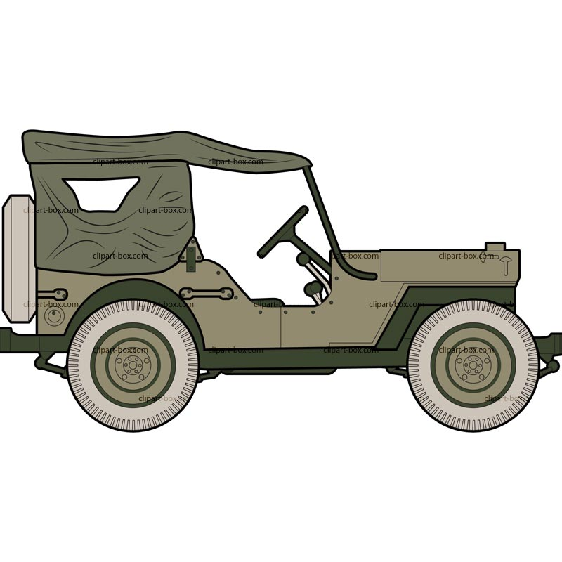 clip library stock Army jeep clipart. Willys silhouette vector clip.