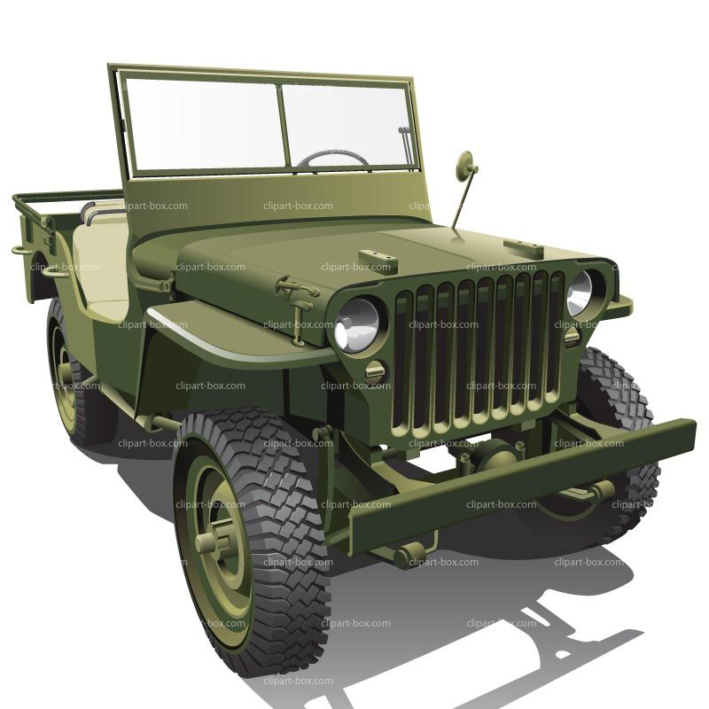 picture free download Army jeep clipart. Us royalty free vector.