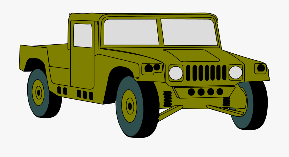 clip library Humvee hummer military vehicle. Army jeep clipart.
