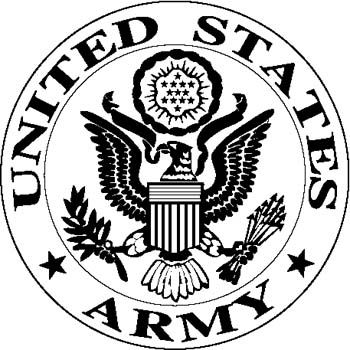 graphic transparent Army logo clipart. Us military kid .