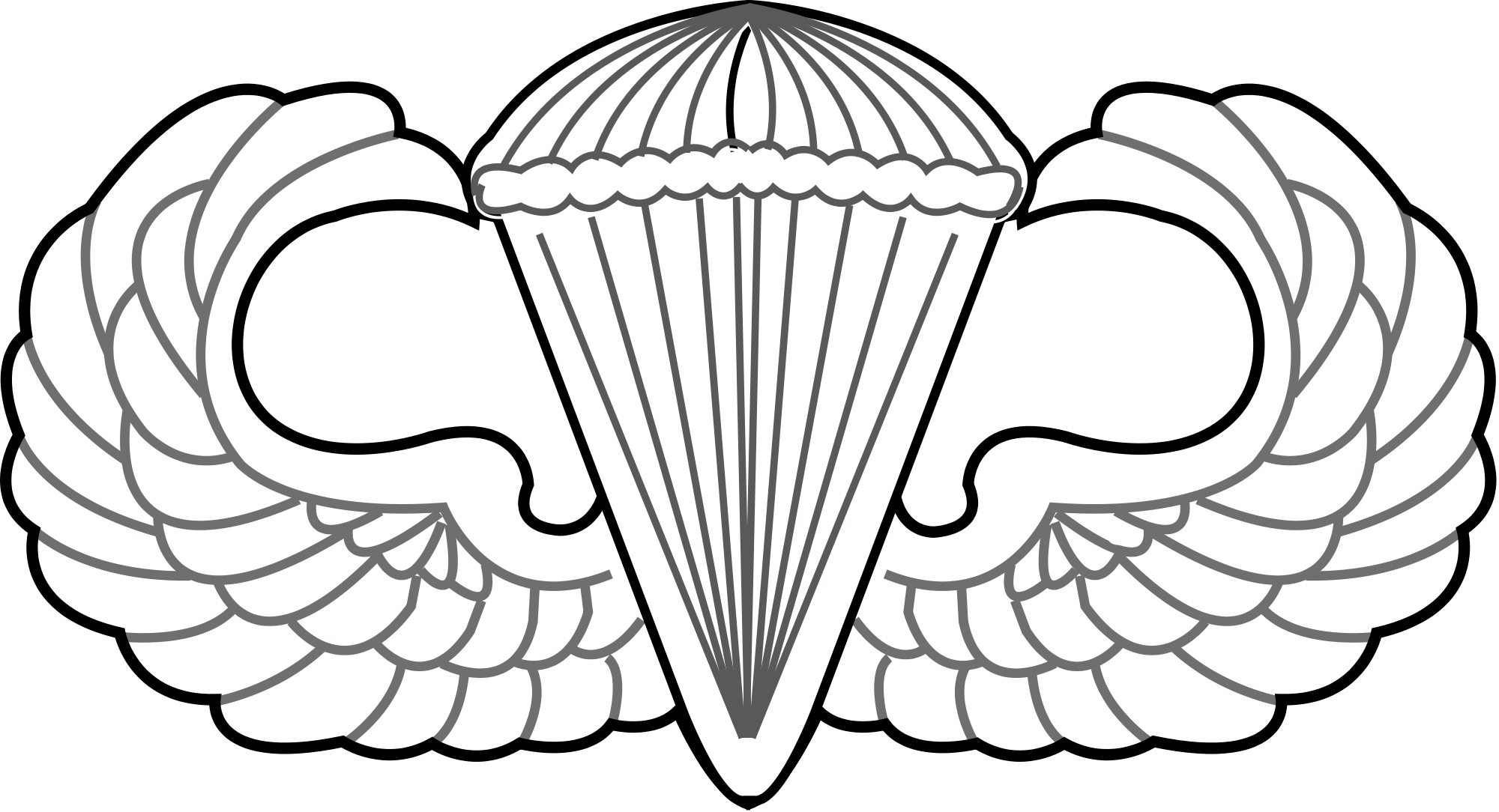 clipart library Army parachute clipart. File united states air.