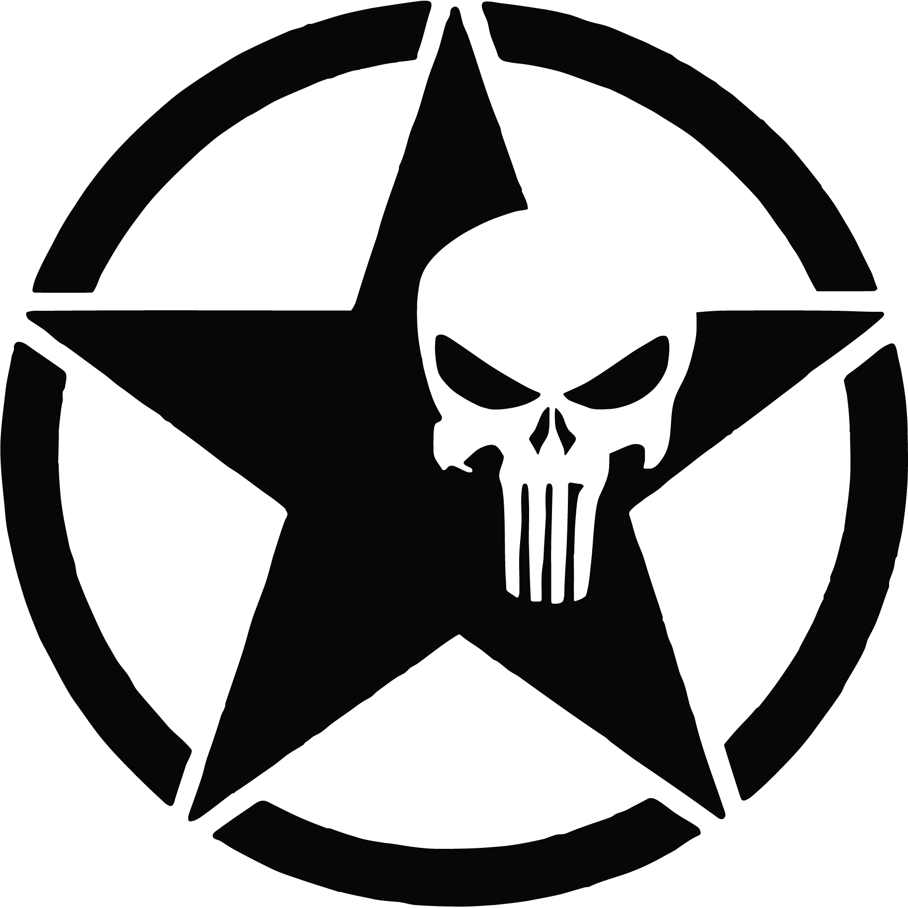 jpg Us punisher skull vinyl. Army star clipart.