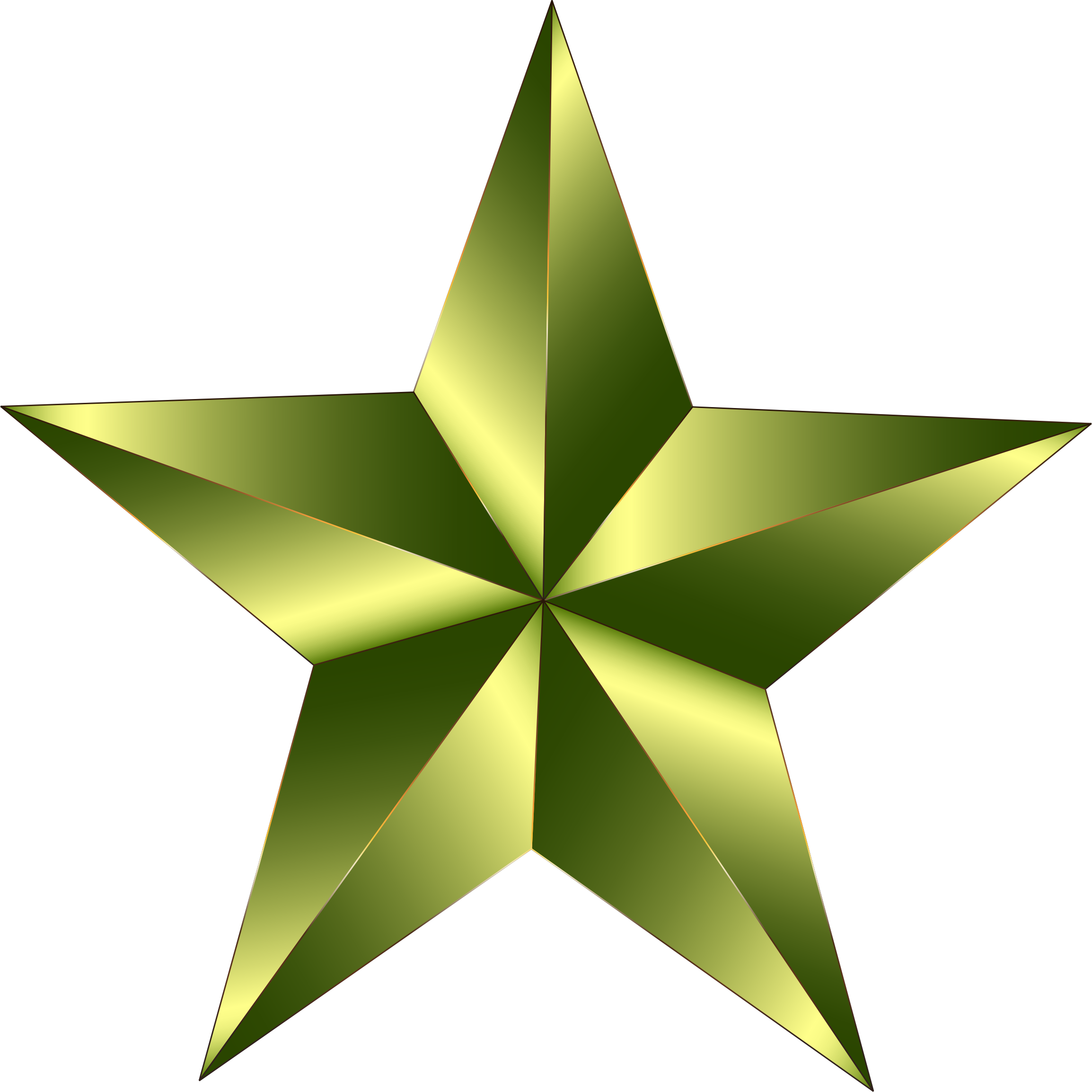 freeuse Army star clipart. Prismatic big image png