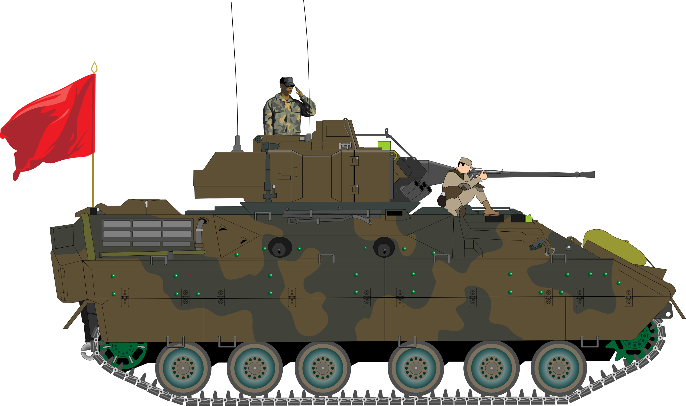 black and white stock Bradley big image png. Army tank clipart.