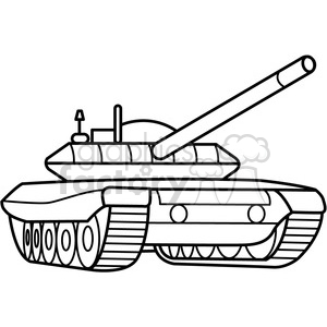 picture Military armored outline royalty. Army tank clipart black and white.