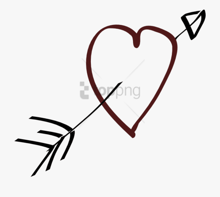 svg library download Png with transparent . Arrow and heart clipart