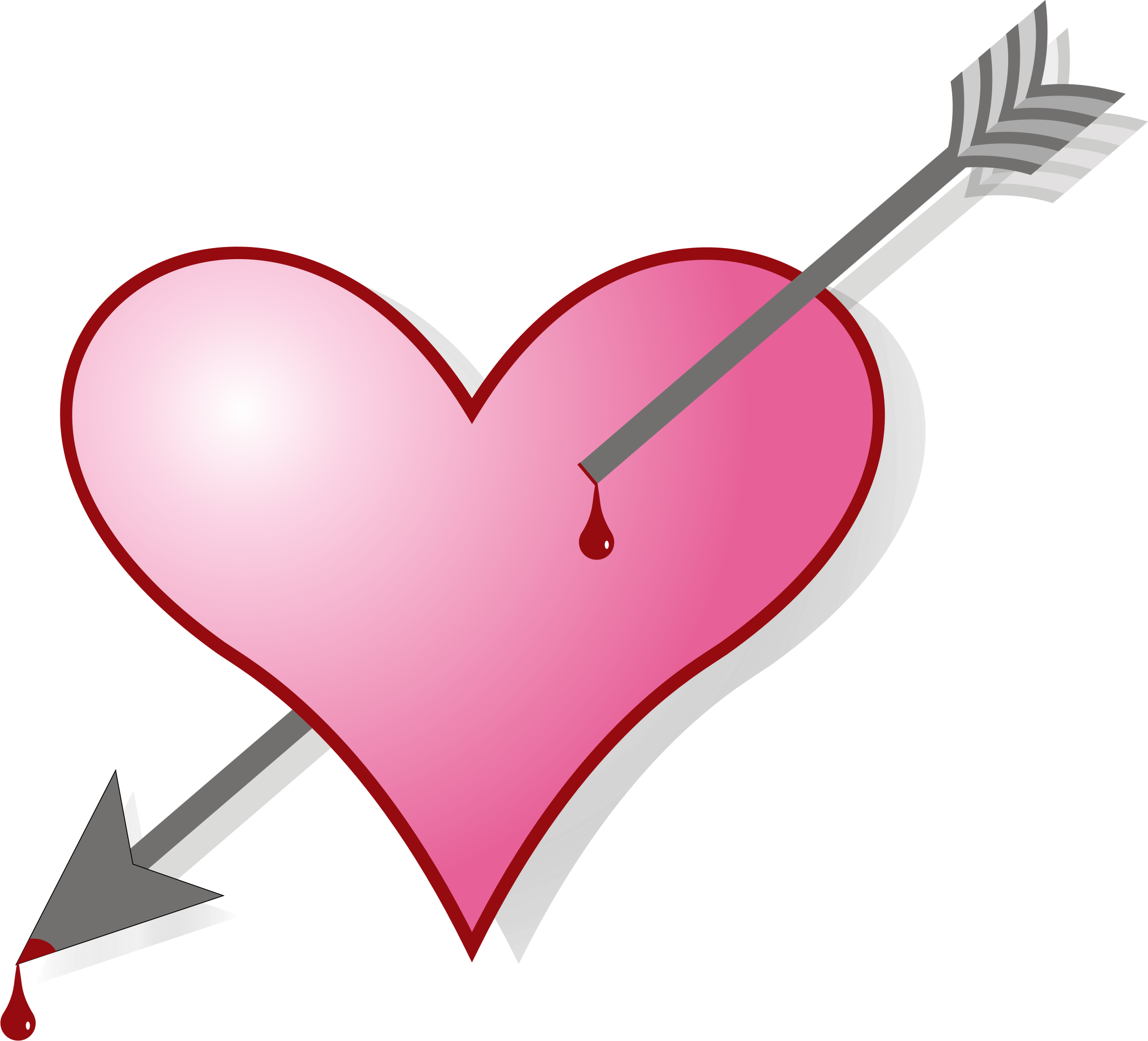 image freeuse download Arrow and heart clipart. Big image png