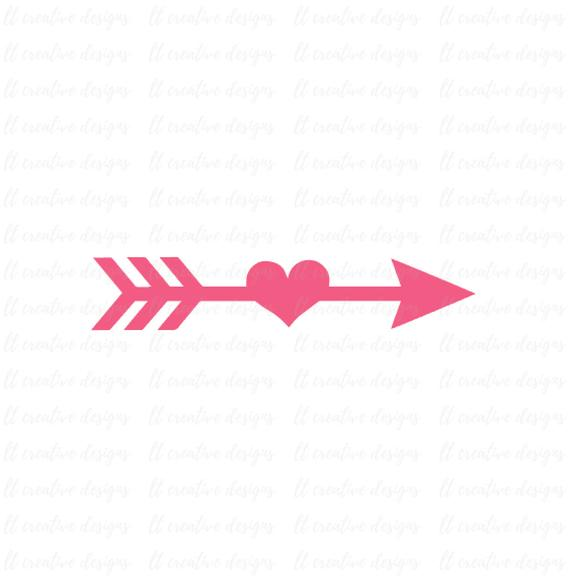 image Station . Arrow and heart clipart