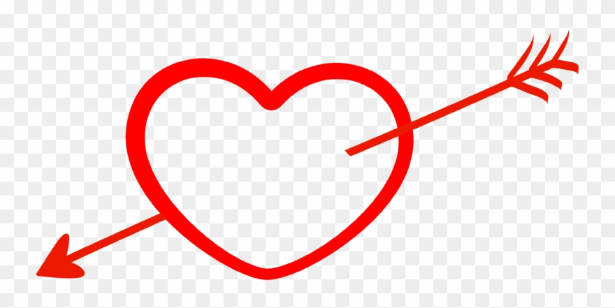 freeuse stock Arrow and heart clipart. With png transparent