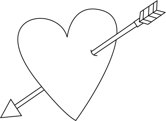 clip art transparent library Valentine s day heart. Arrow black and white clipart