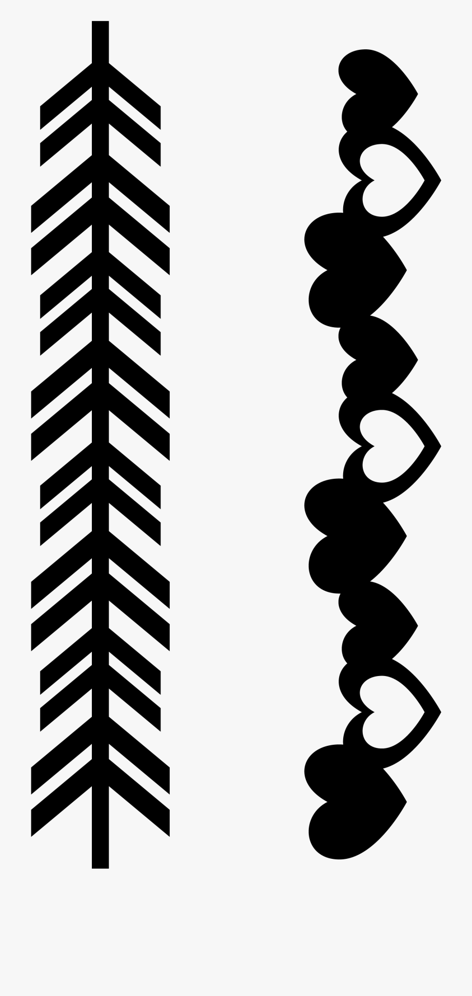 clip freeuse library Arrow border clipart. Clip art free line