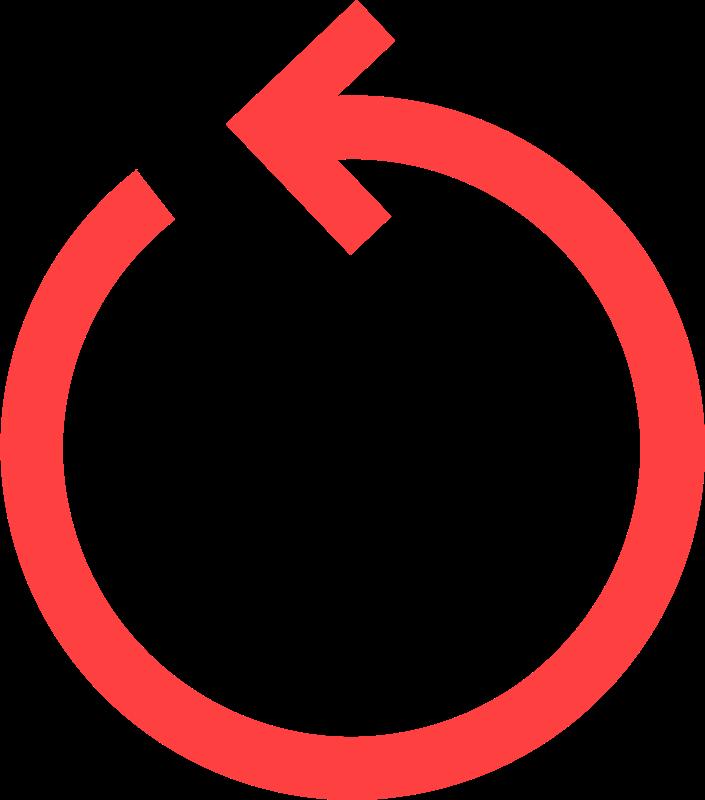 clip art royalty free download Circular red medium image. Arrow circle clipart.
