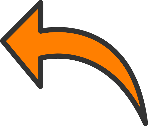 banner free library Arrow clipart. Orange clip art at