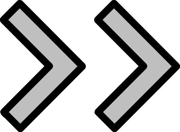 clip transparent stock Right double arrow clip. Forward clipart.