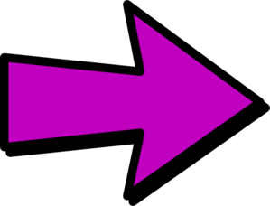 graphic transparent library Arrow clipart. Purple .