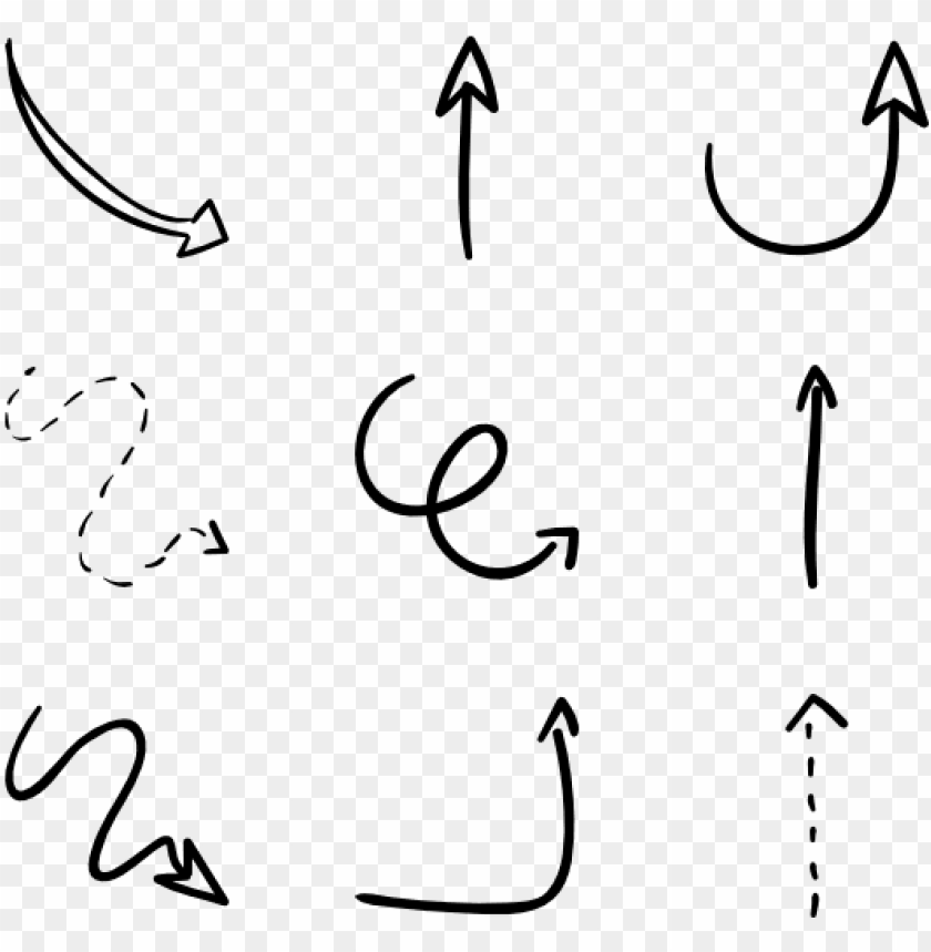 picture freeuse library Arrow clipart free. Hand drawn transparent