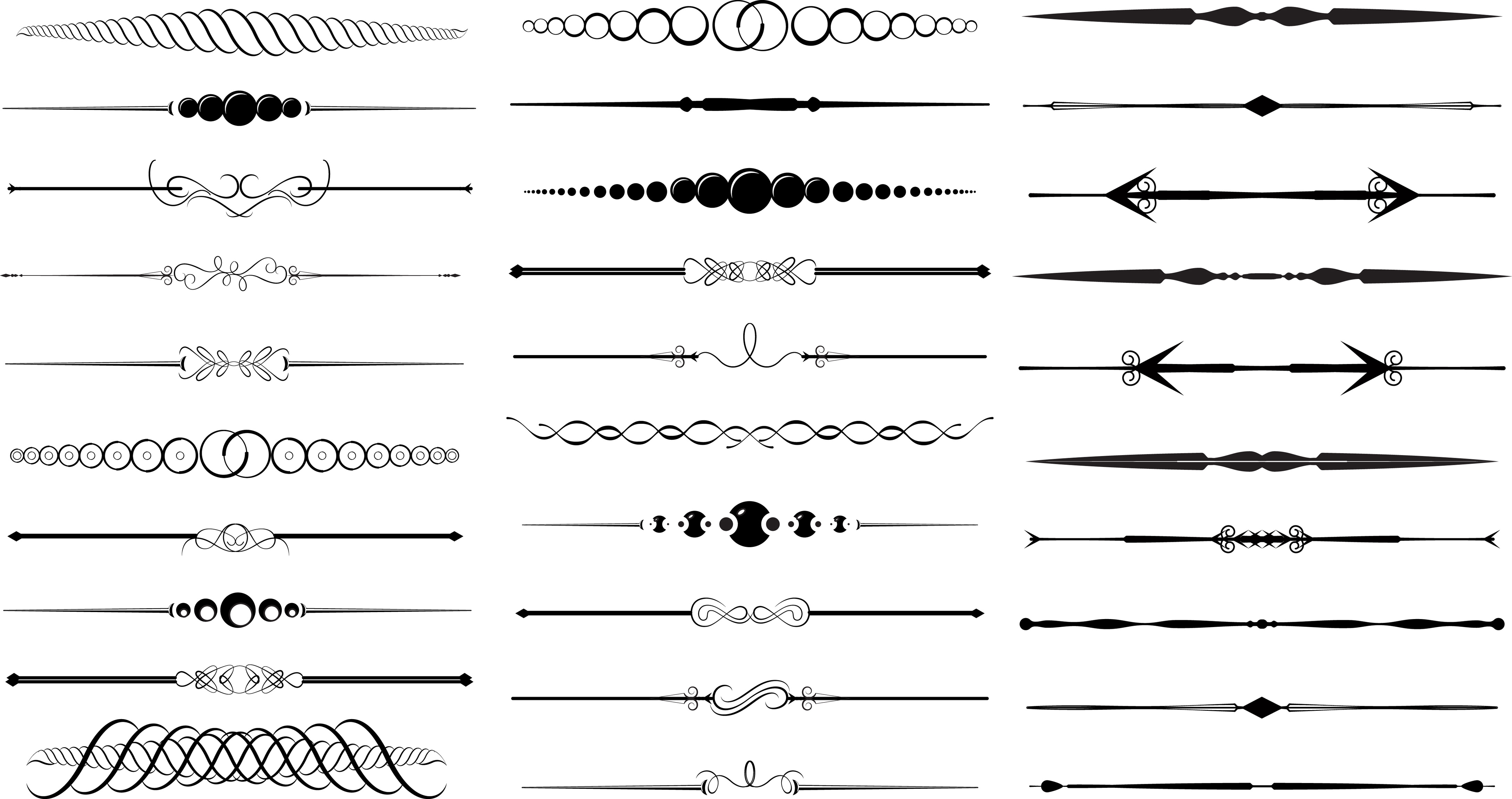 image black and white stock Arrow divider clipart. Free cliparts download clip.