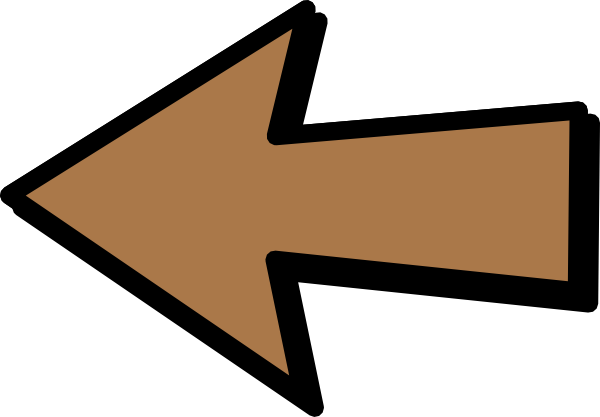 png library download Arrow sign clipart. Left brown clip art.
