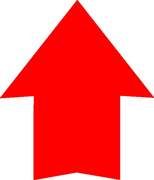 clip art transparent Arrow up clipart. Plain red clip art