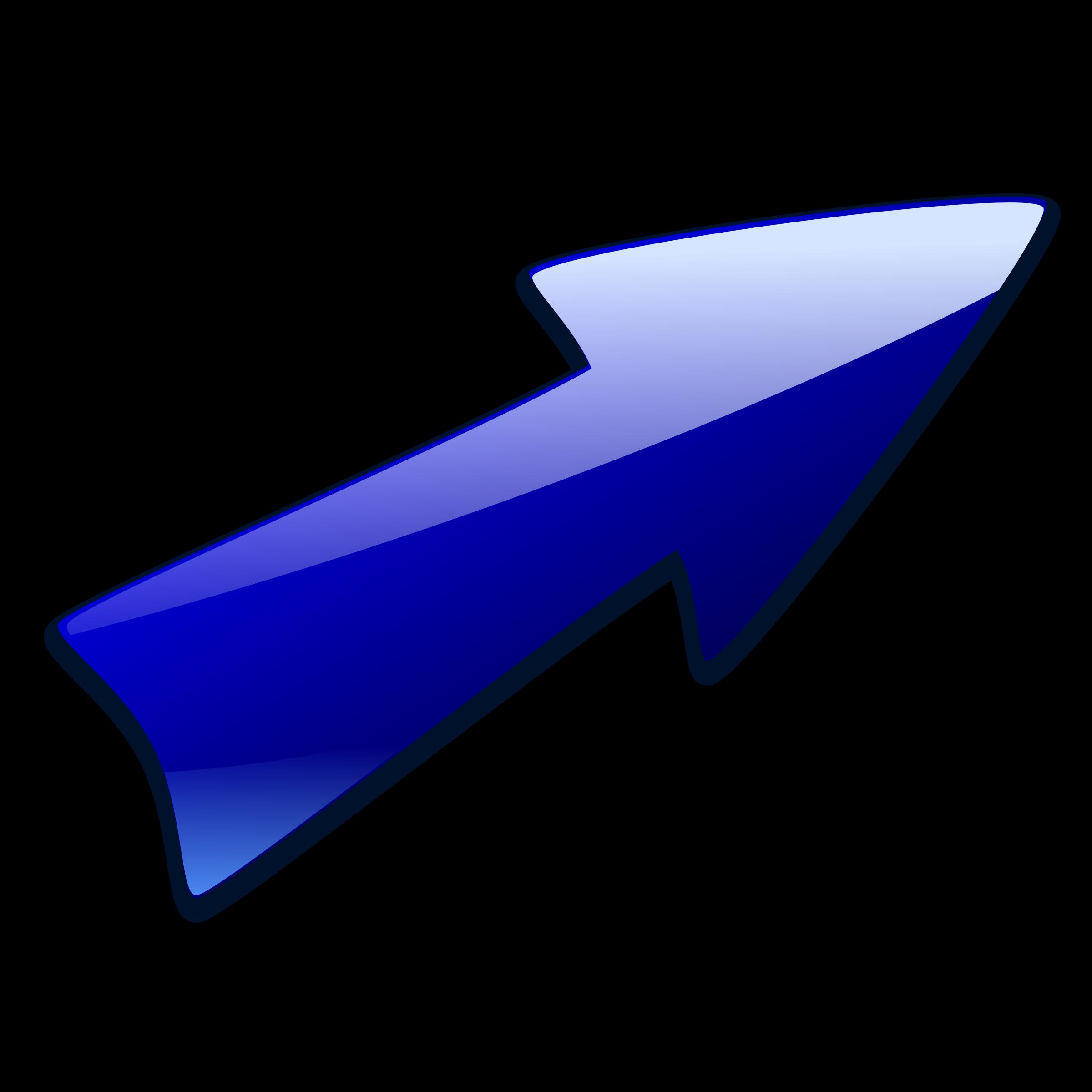 vector Arrow up clipart. Long right big image