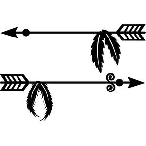 clip art free Arrow with feathers clipart. Silhouette design store view