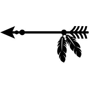 png transparent Silhouette design store and. Arrow with feathers clipart