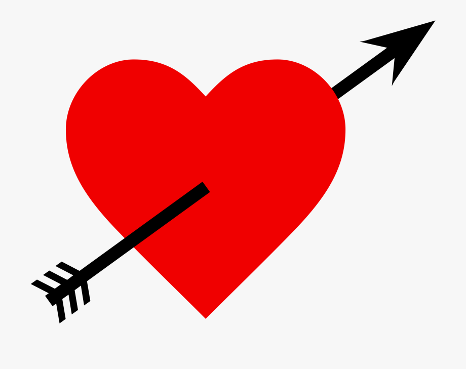 png free Hearts clip art pencil. Arrow with heart clipart