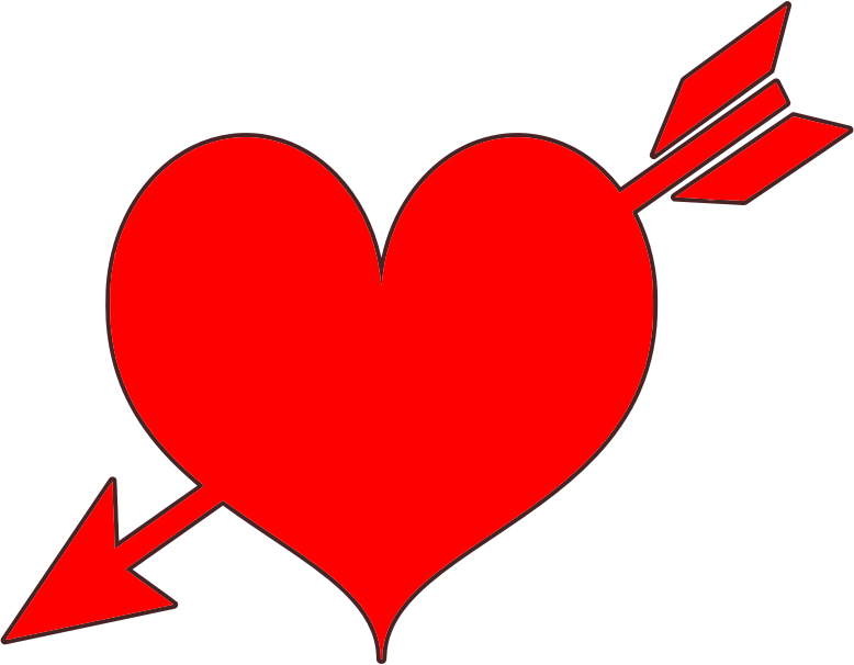 graphic black and white library Red medium image png. Arrow with heart clipart