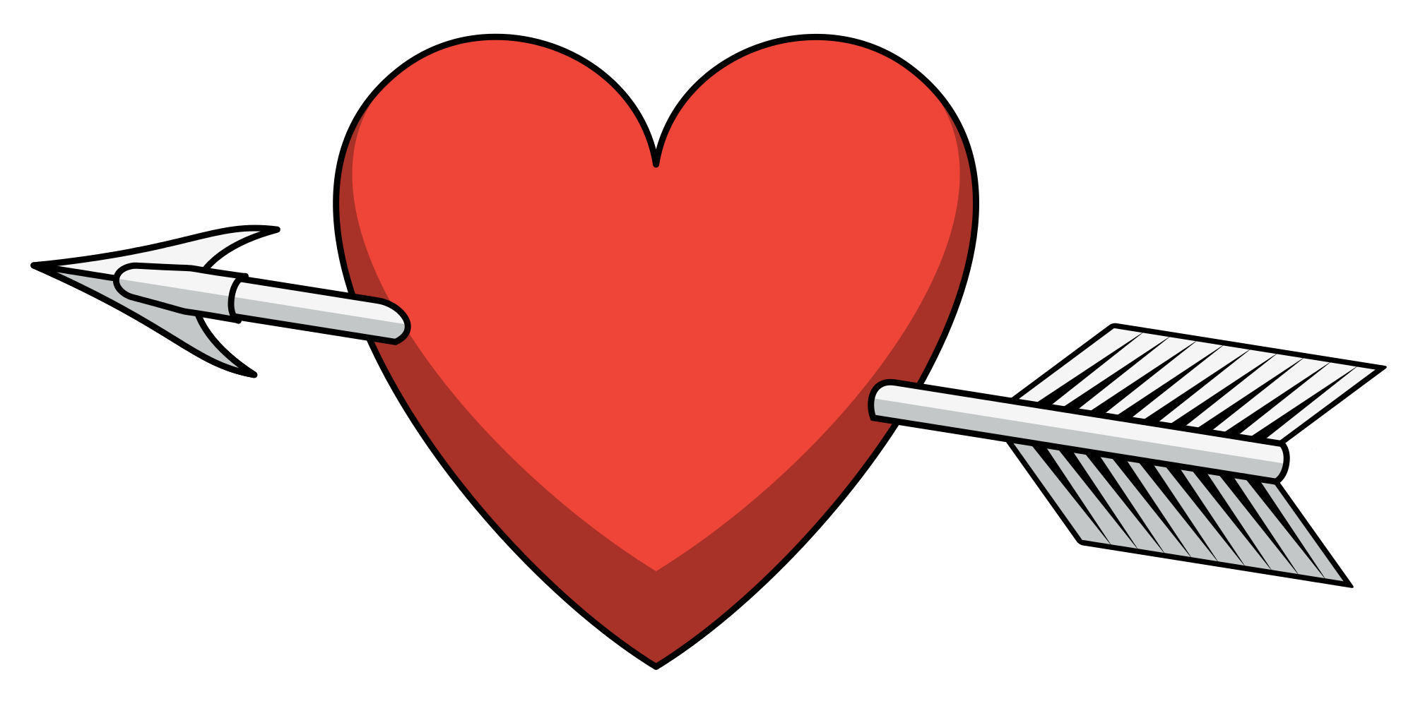 clipart library download Arrow with heart clipart. File shaded svg wikimedia
