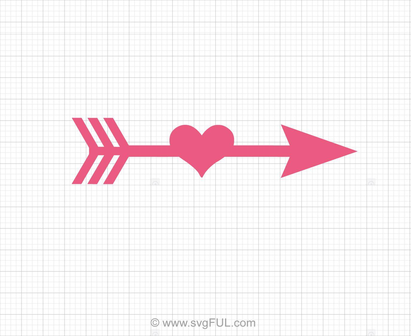 jpg library Arrow heart svg clip. Arrows with hearts clipart.