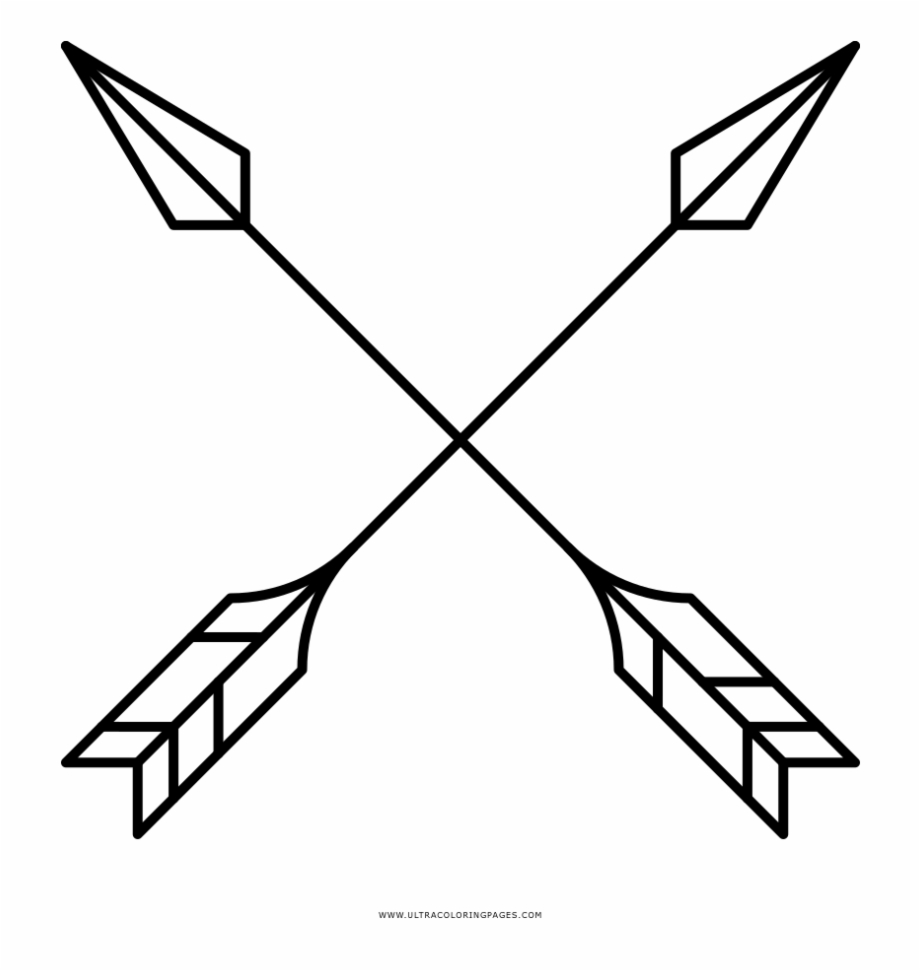 clipart royalty free Cross coloring page crossed. Arrows crossing clipart
