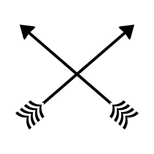 jpg black and white Arrows crossing clipart. Crossed bw clip art