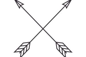 svg free stock Portal . Arrows crossing clipart