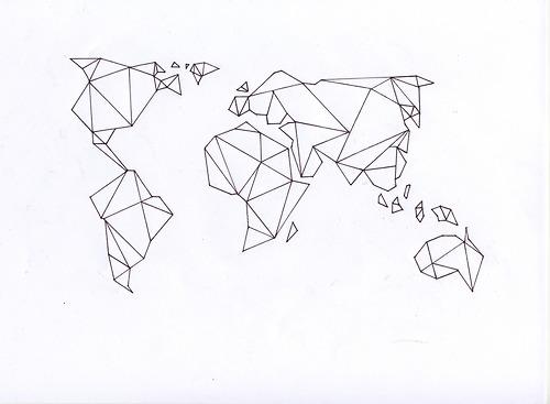 image transparent geometric map