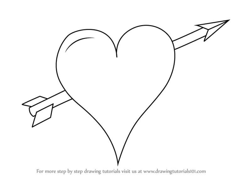 vector free Learn how to draw. Drawing pic heart
