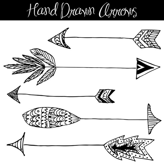 clipart freeuse library Hand Drawn Arrows Clip Art