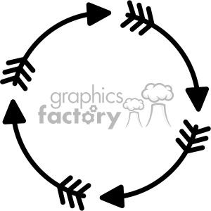 transparent Arrow circle clipart. Svg cut file royalty.