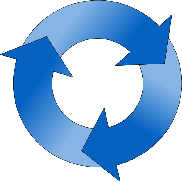 png Circular Arrow In Blue Hues