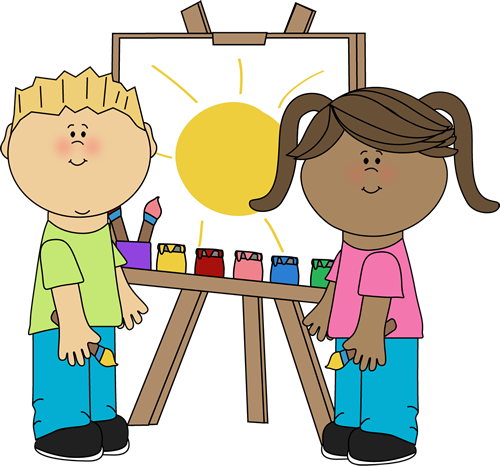 graphic stock Clip images kids in. Art class clipart.