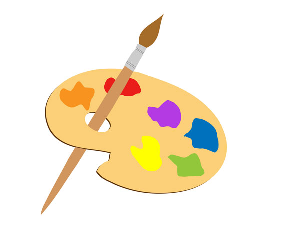 picture royalty free library Art clipart. Artists palette free stock.