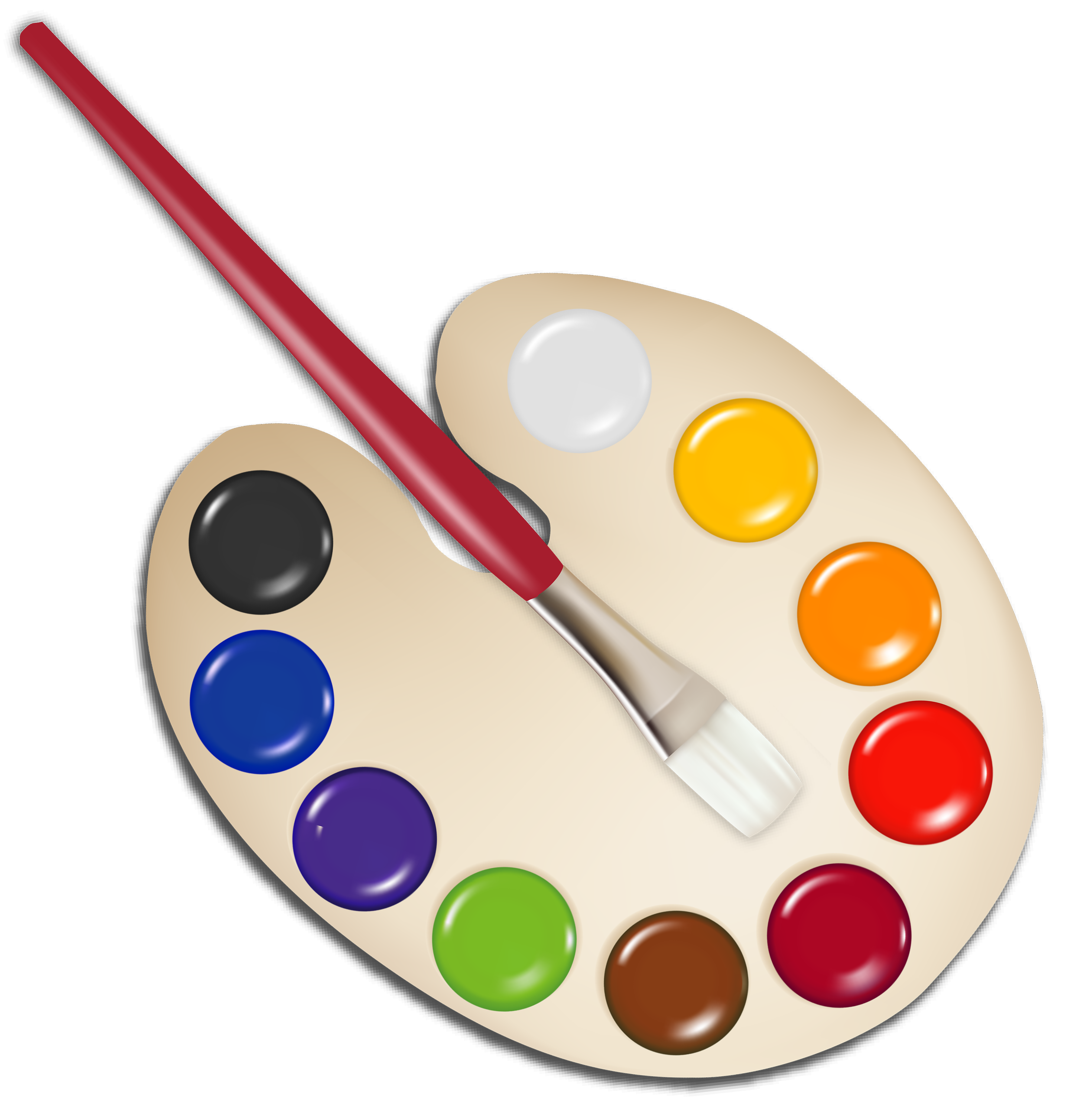 picture royalty free download Paint brush clipart holder. Transparent painting